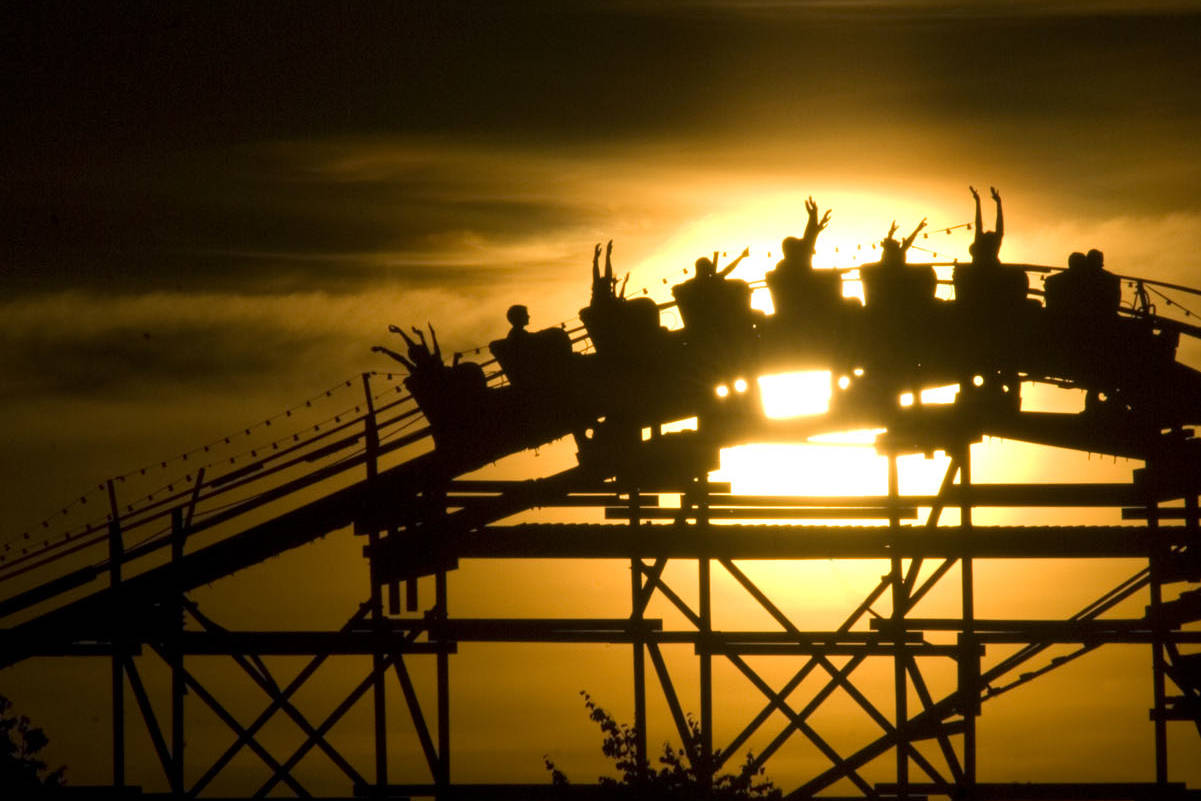 A roller coaster at Vancouver's Playland at the PNE.