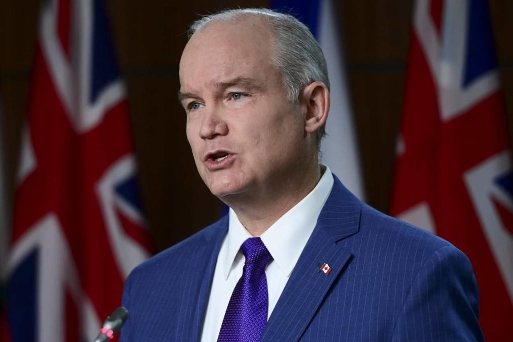 Conservative leader Erin O'Toole holds a press conference on Parliament Hill in Ottawa on Monday, April 26, 2021, during the COVID-19 pandemic. THE CANADIAN PRESS/Sean Kilpatrick