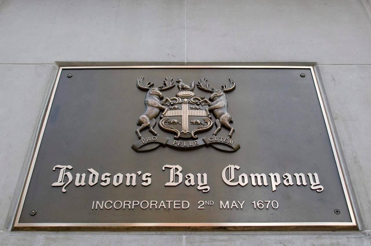 The Hudson's Bay Company sign in downtown Toronto, Wednesday July 16, 2008. THE CANADIAN PRESS/Adrian Wyld