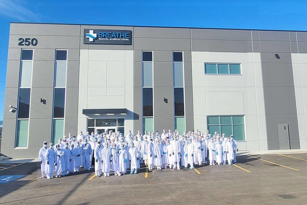 Breathe Manufacturing Ltd. located at 250 Beaver Lake Road in Kelowna (Photo contributed).