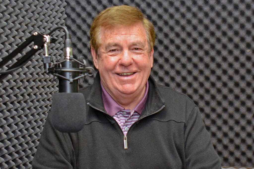 Bernie Pascall visits the PQB News/VI Free Daily studio. (Peter McCully photo)