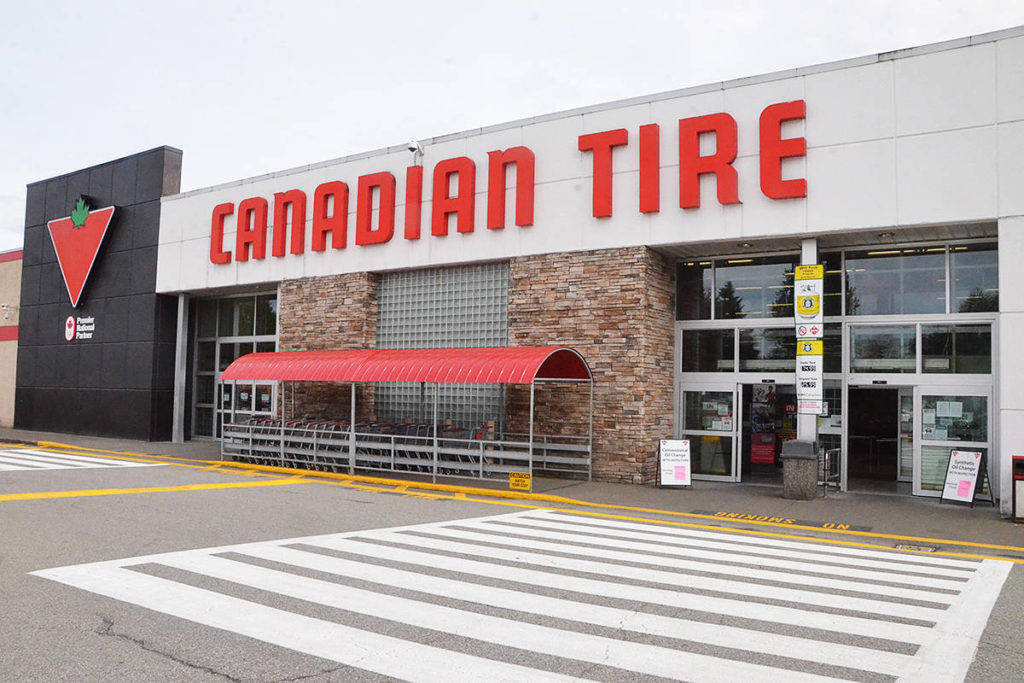 The Canadian Tire in Langley closed due to COVID-19 infections as of Friday. Fraser Health won't announce the closure until Monday. (Matthew Claxton/Langley Advance Times)