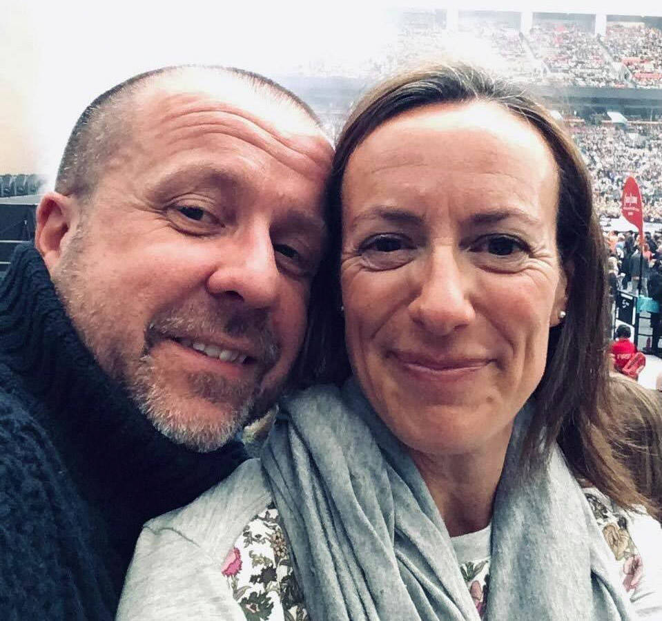 """""""Dave and I are completely overwhelmed and humbled by all the support from friends and strangers in the community,"""" said Dave Corke's wife, Vanessa Corke. Dave was diagnosed with leukaemia on Dec. 23, 2020 and since then, many friend have been raising money for him and his family. (Facebook/ Vanessa Corke)"""