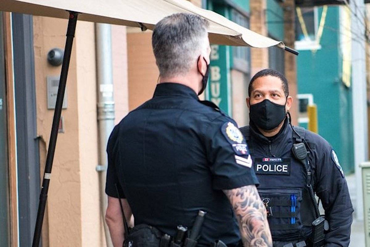 The deputy chief of New Westminister's police force is frustrated his officers haven't been vaccinated yet, given that six of them are now in self-isolation (Twitter/New Westminster Police)