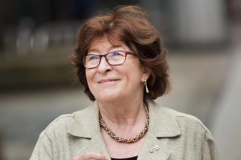 Louise Arbour, former Justice of the Supreme Court of Canada and the United Nations High Commissioner for Human Rights, smiles after having her star unveiled on Canada's Walk of Fame in Toronto on Monday, June 8, 2015. THE CANADIAN PRESS/Darren Calabrese