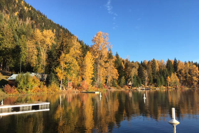 Sugar Lake shows off its fall colours.