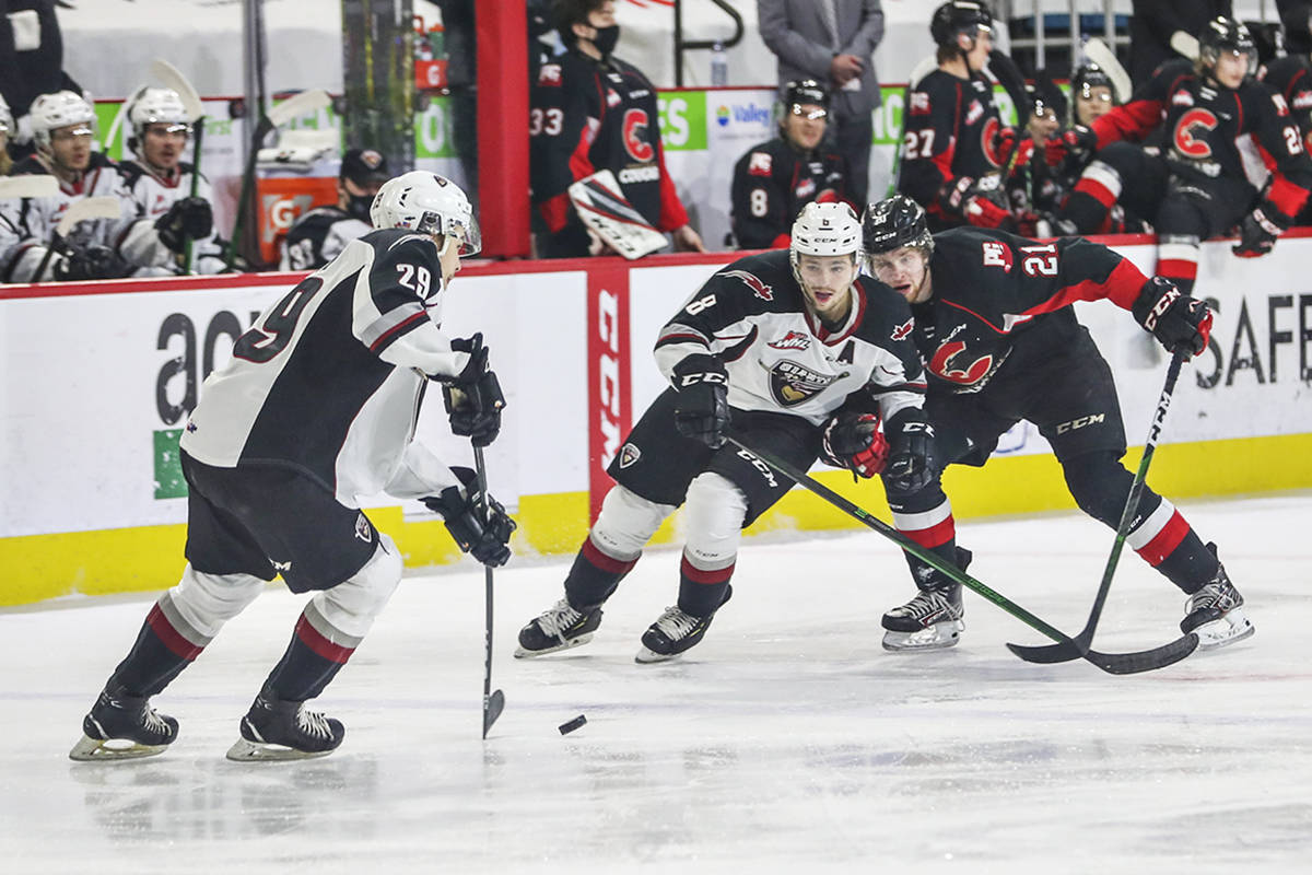 Sunday night in Kamloops the Vancouver Giants dropped a 5-2 decision to the Prince George Cougars (Allen Douglas/special to Langley Advance Times)