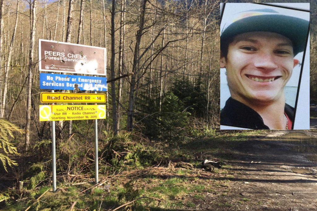 Michael Bonin, 20, from Alberta, was discovered deceased on Peers Creek Forest Service Road north of Hope on April 20, 2017. (Black Press Media)