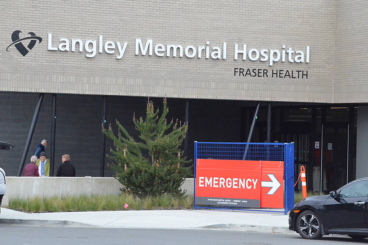 Langley Memorial Hospital's new ER was on the verge of opening on May 3 when this photo was taken. (Matthew Claxton/Langley Advance Times)