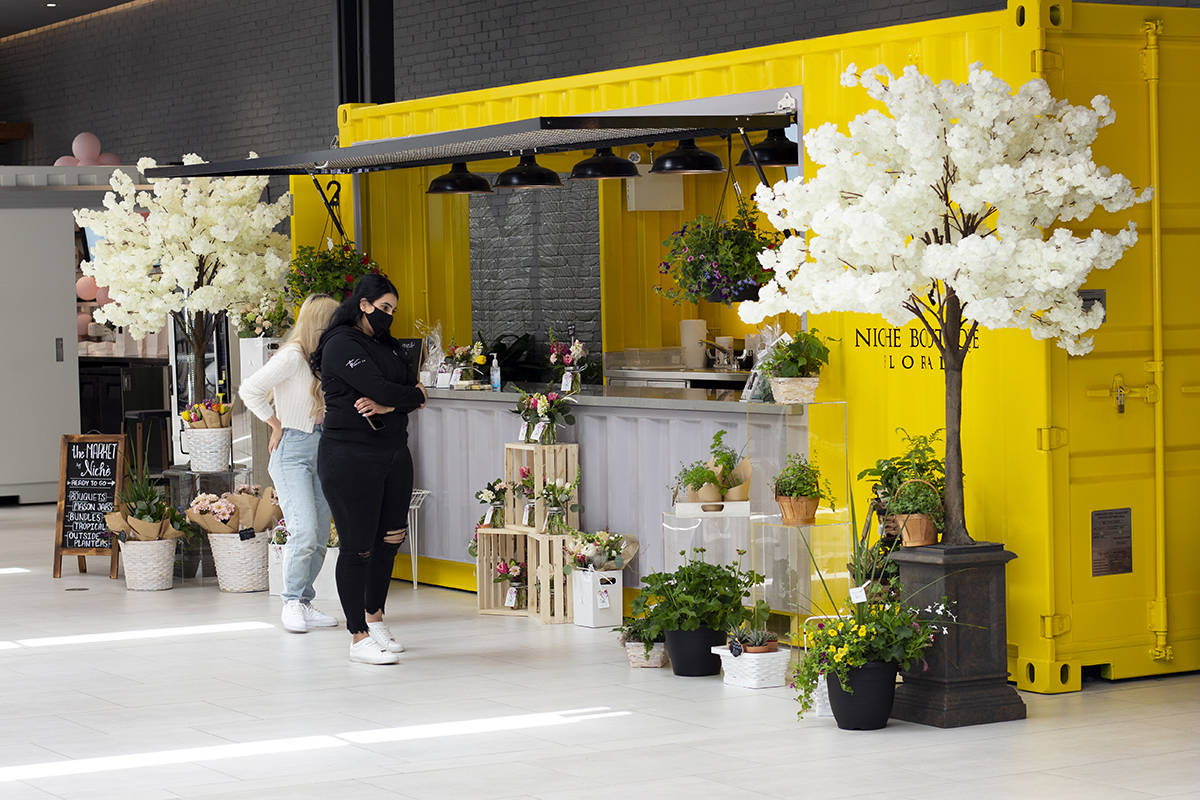 Willow Way, at Willowbrook Shopping Centre, offers a short-term home to a rotating selection of local businesses, from clothing designers and jewellers to bakers and floral designers, like Niche Boutique Florals.