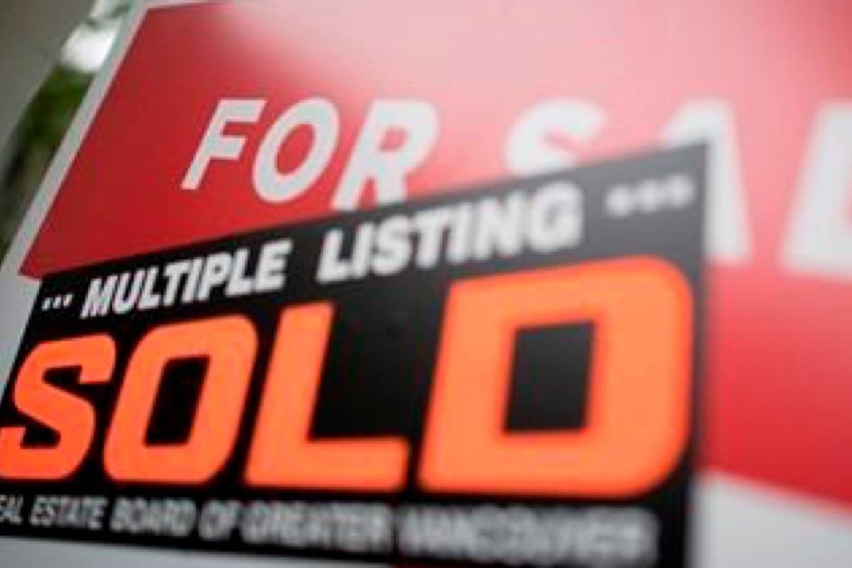 Real estate sales are a bit down in Langley from last January. (Photo by THE CANADIAN PRESS)
