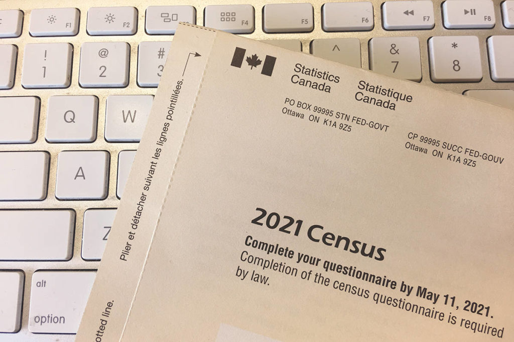 A 2021 census questionnaire. (Black Press Media file photo)