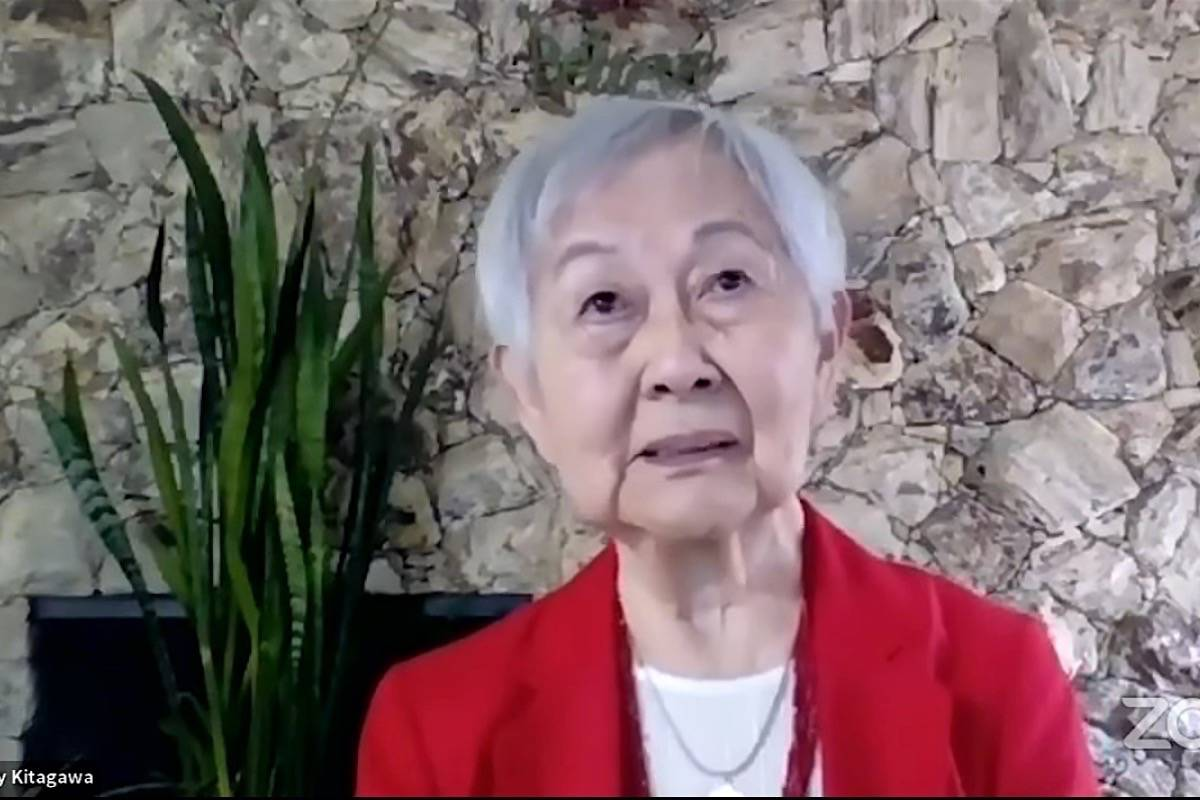 Mary Kitagawa was born on Salt Spring Island and was seven years old when she was interned along with 22,000 B.C. residents in 1942. (B.C. government video)