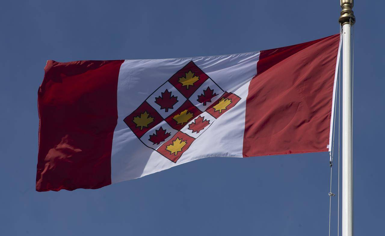 The flag of the Supreme Court of Canada flies in Ottawa, Monday March 15, 2021. THE CANADIAN PRESS/Adrian Wyld