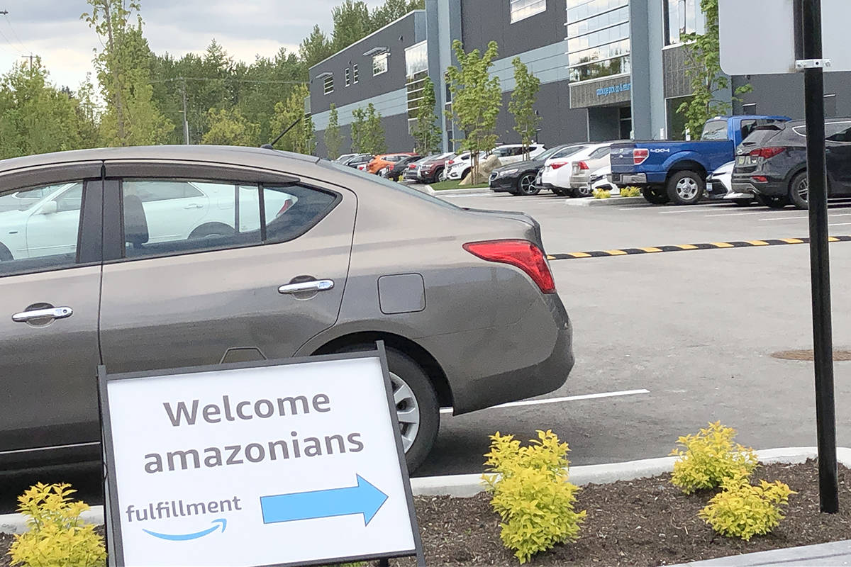 Amazon has set up a hub in Gloucester Industrial Park. (Heather Colpitts/Langley Advance Times)