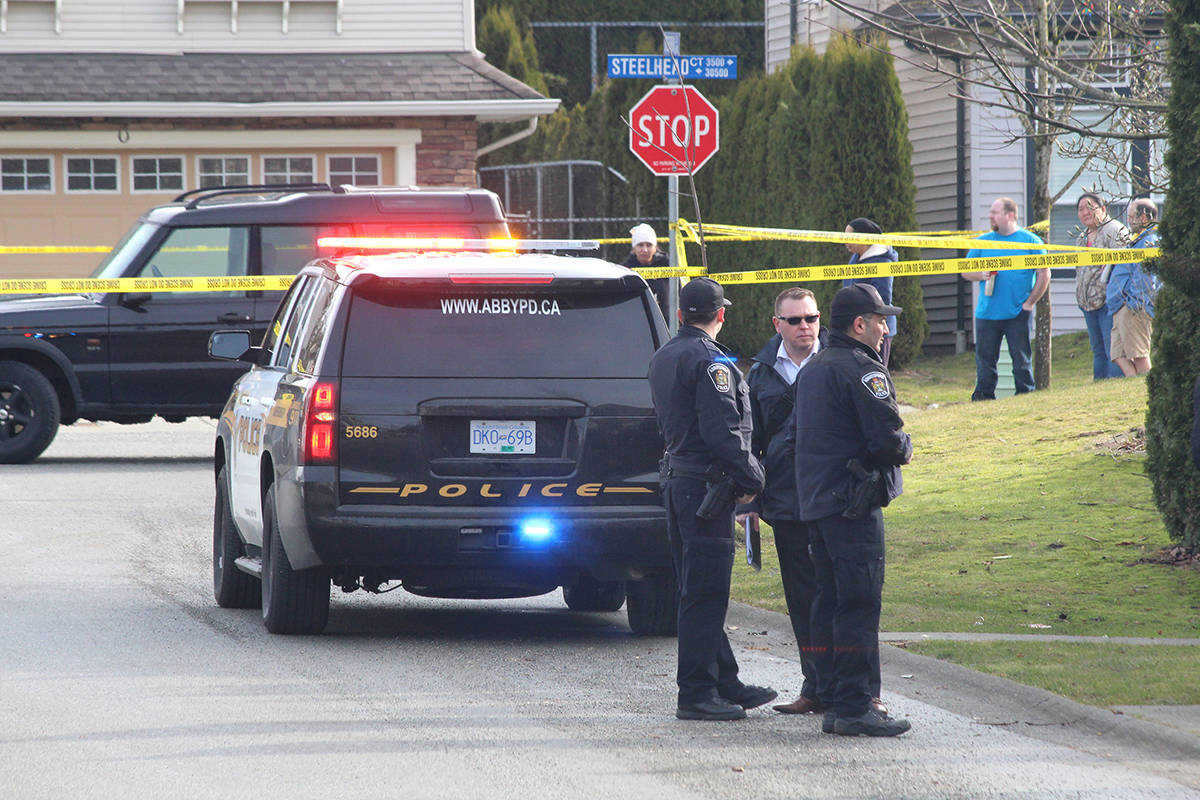Police were on the scene of a fatal shooting in Abbotsford. (Black Press Media files)