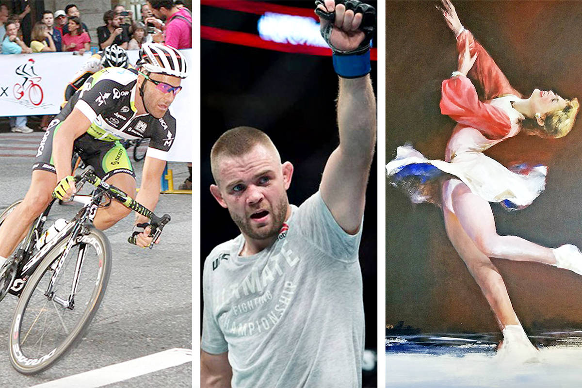 Langley is home to a wide range of outstanding athletes, ranging from cycling champion Svein Tuft to MMA fighter Tristan Connelly and figure skating legend Karen Magnussen (files)