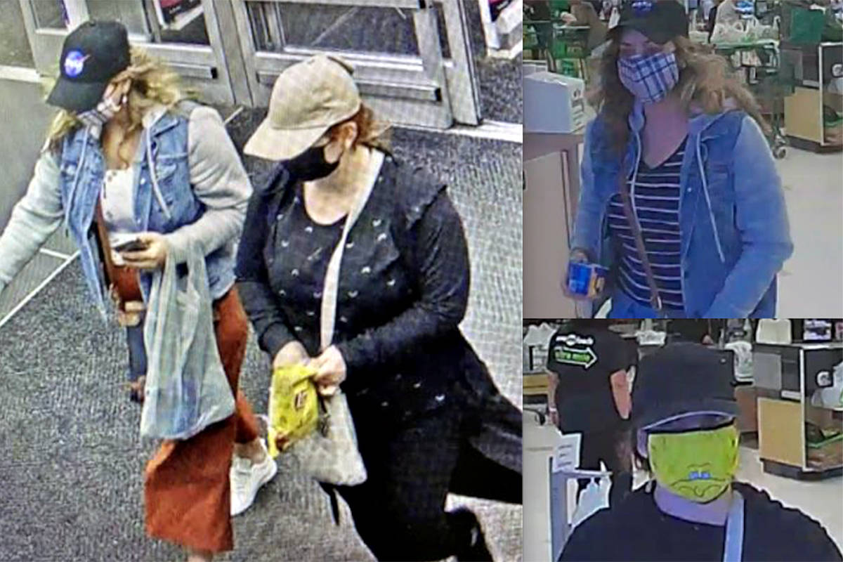 Two women used the short change scam at at the Langley Wal-Mart on April 13th and the Langley City Save on Foods on April 27th, police said. (Special to Langley Advance Times)