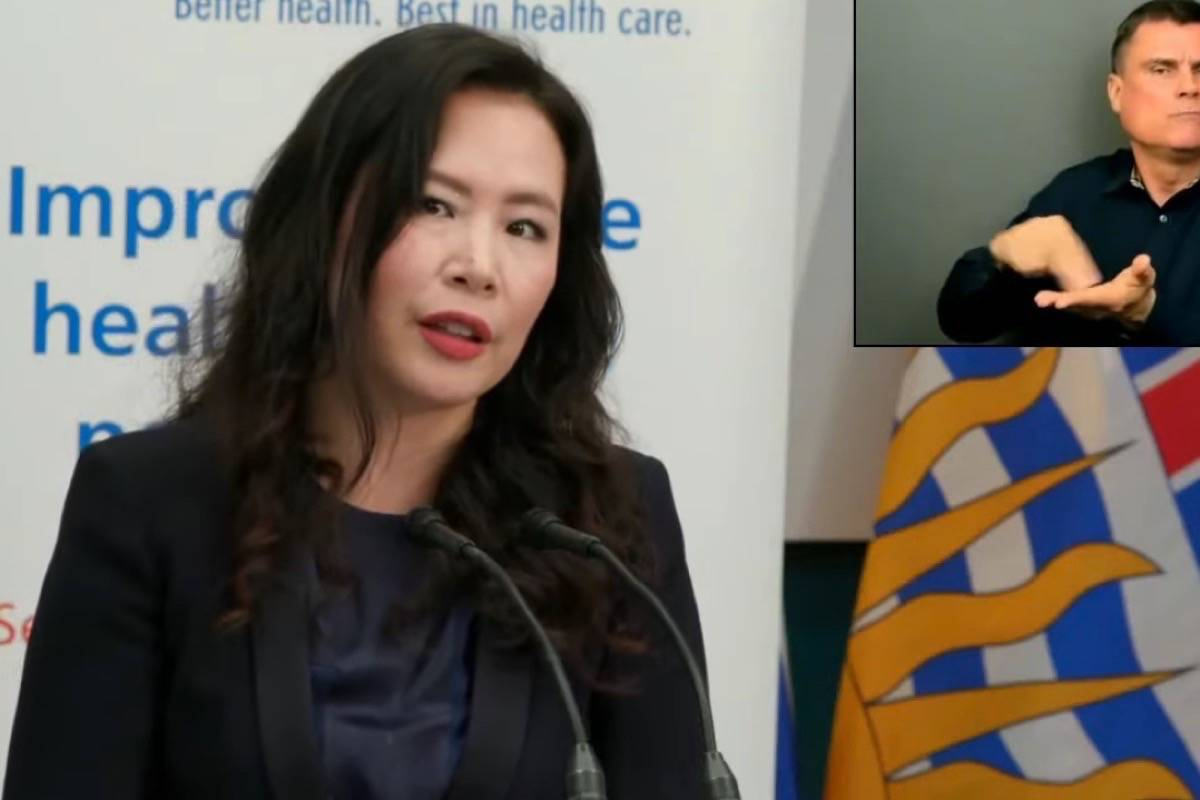 Dr. Victoria Lee, CEO of Fraser Health, hosts an update on efforts to contain B.C.'s COVID-19 transmission in Surrey and the Fraser Valley and protect hospitals in the Lower Mainland, May 6, 2021. (B.C. government video)