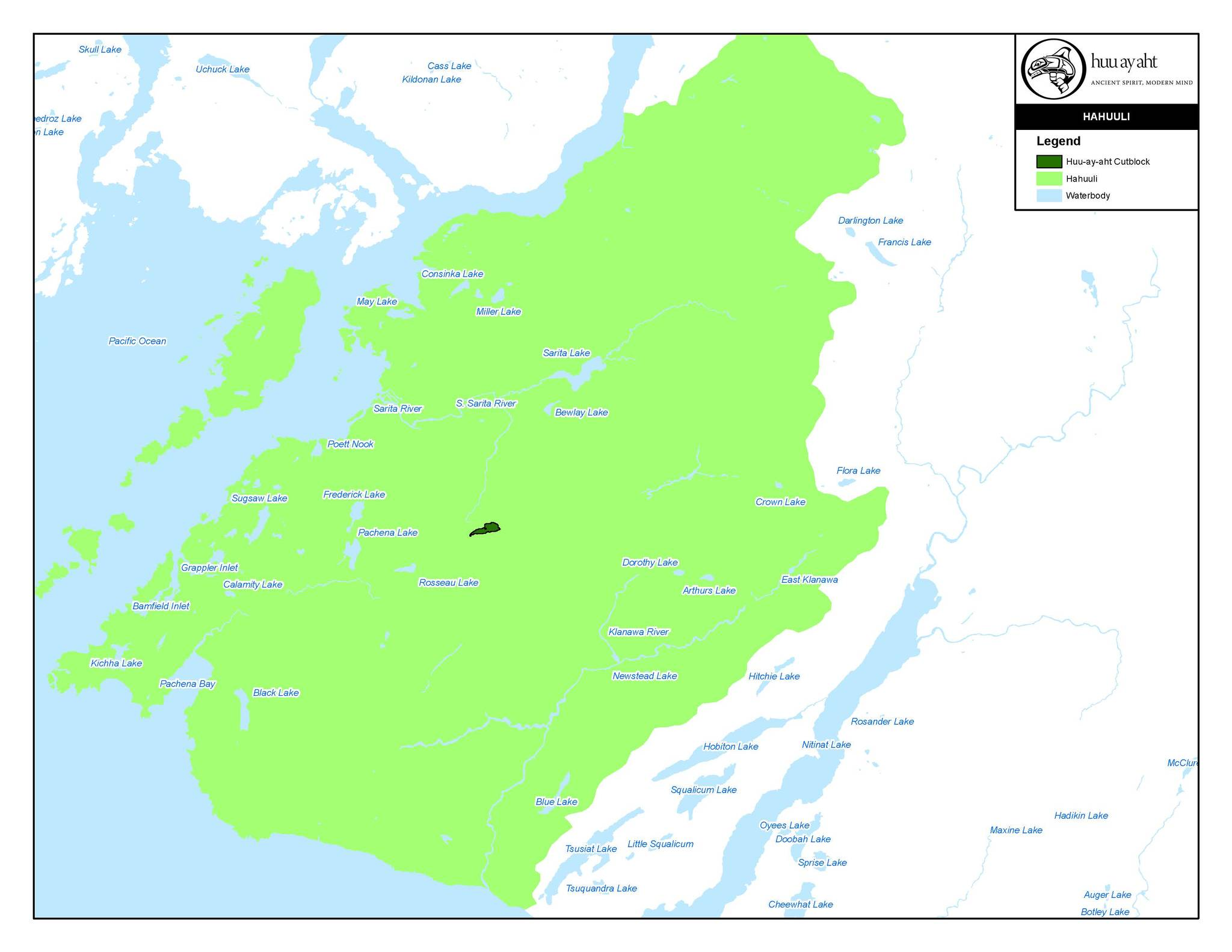 A map of Huu-ay-aht-owned forestry cutblock. (SUBMITTED PHOTO)