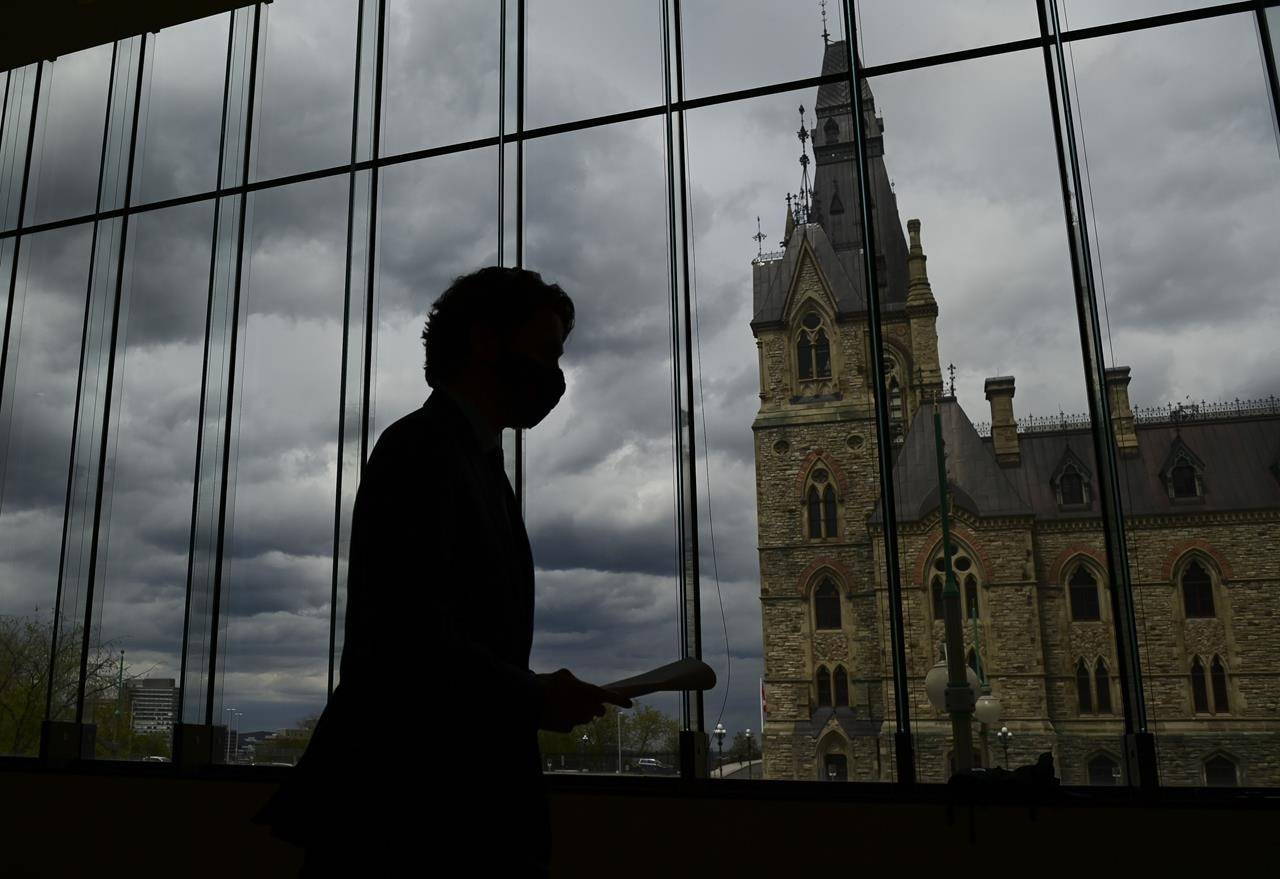 Prime Minister Justin Trudeau leaves after holding a press conference in Ottawa on Friday, May 7, 2021, during the COVID-19 pandemic. THE CANADIAN PRESS/Sean Kilpatrick