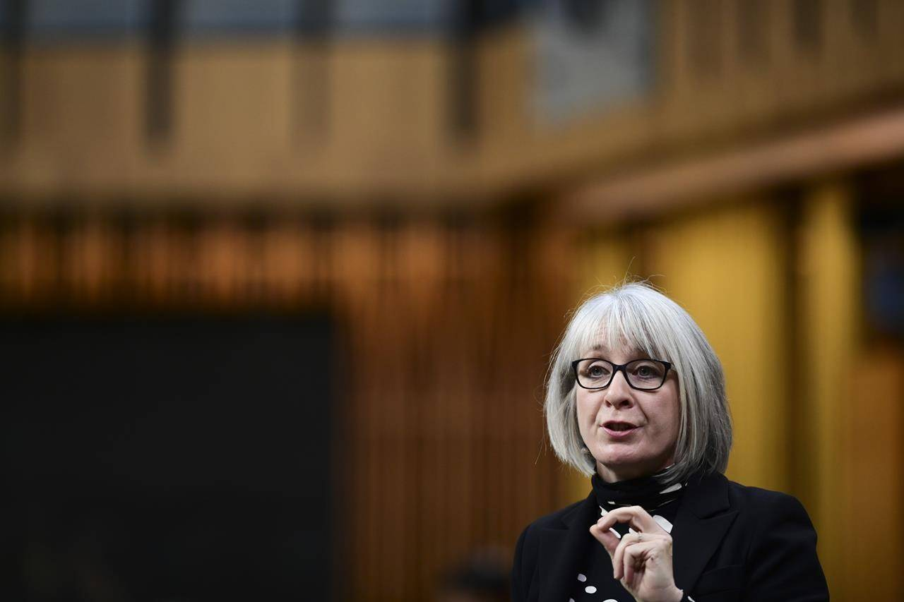 Minister of Health Patty Hajdu responds to a question during question period in the House of Commons on Parliament Hill in Ottawa. THE CANADIAN PRESS/Sean Kilpatrick