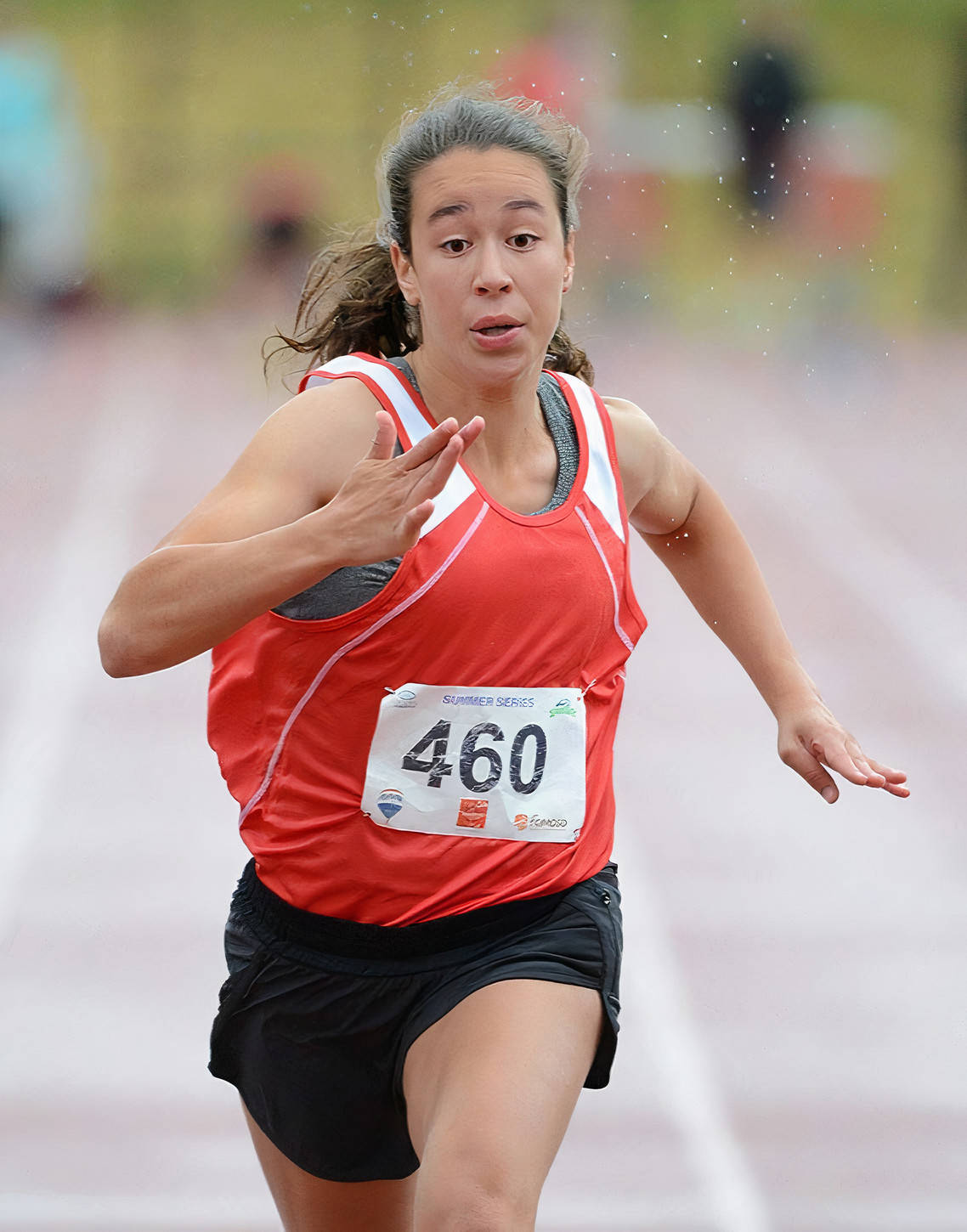 Langley sprinter Jordan Jacobs was named to the 2020-21 Great Northwest Athletic Conference (GNAC) Women's Track and Field All-Academic Team. (file)