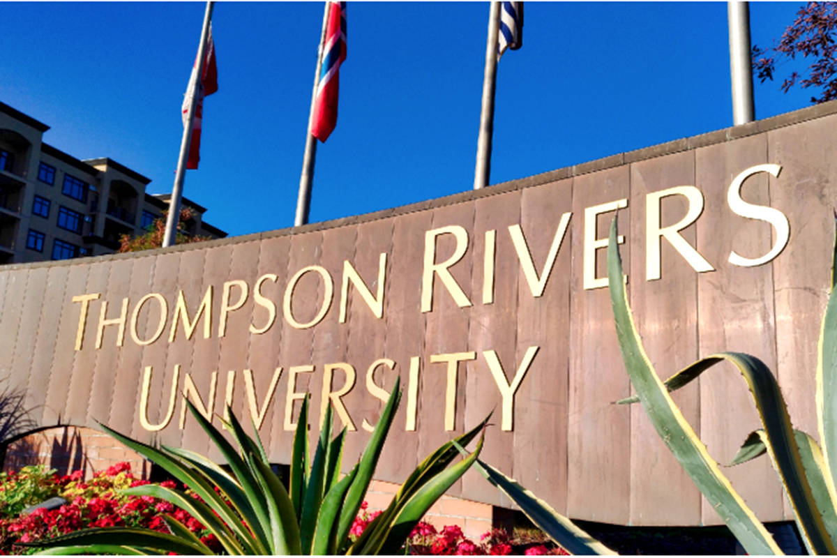 Thompson Rivers University campus is in Kamloops, B.C. (KTW file photo)