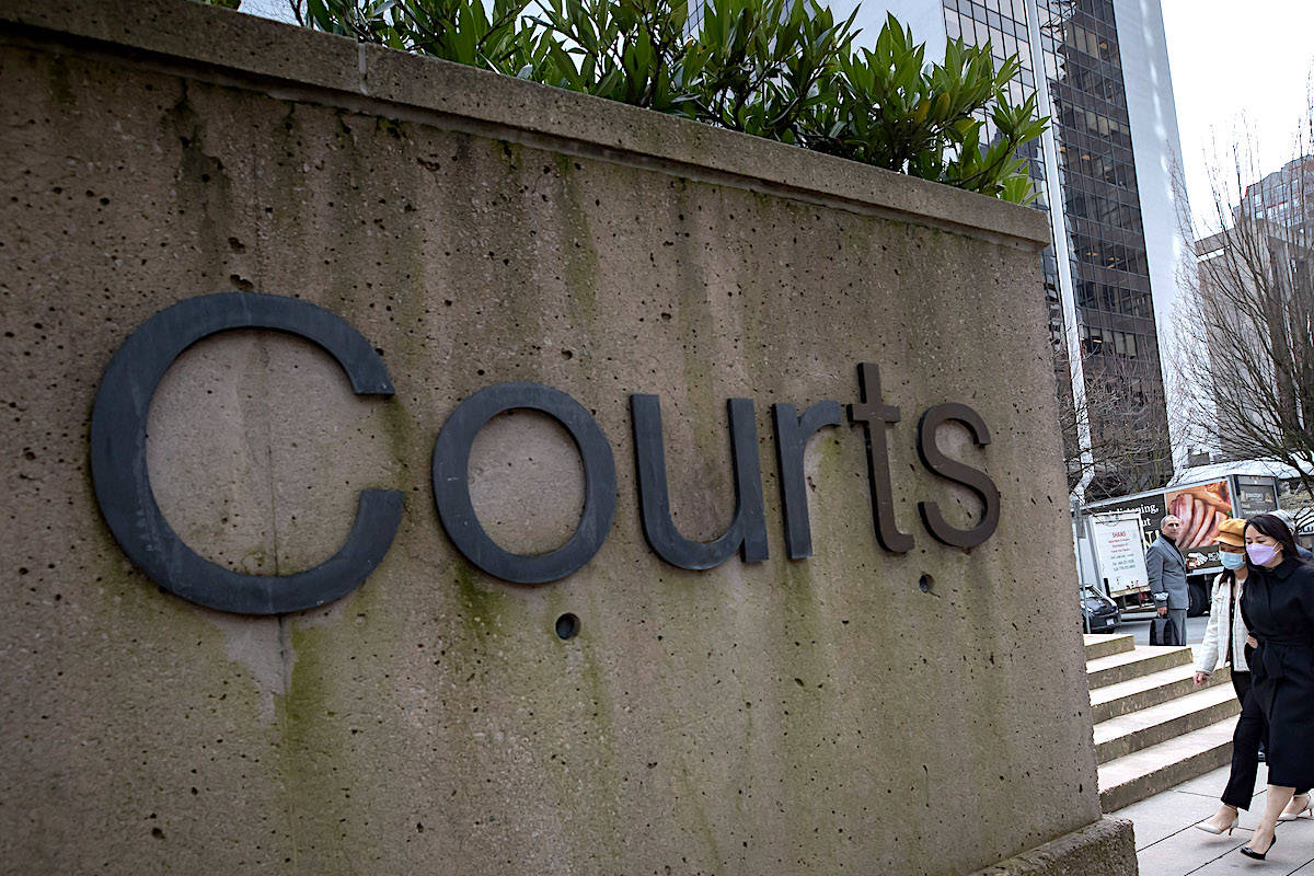 Vancouver court on Tuesday, March 23, 2021. THE CANADIAN PRESS/Darryl Dyck
