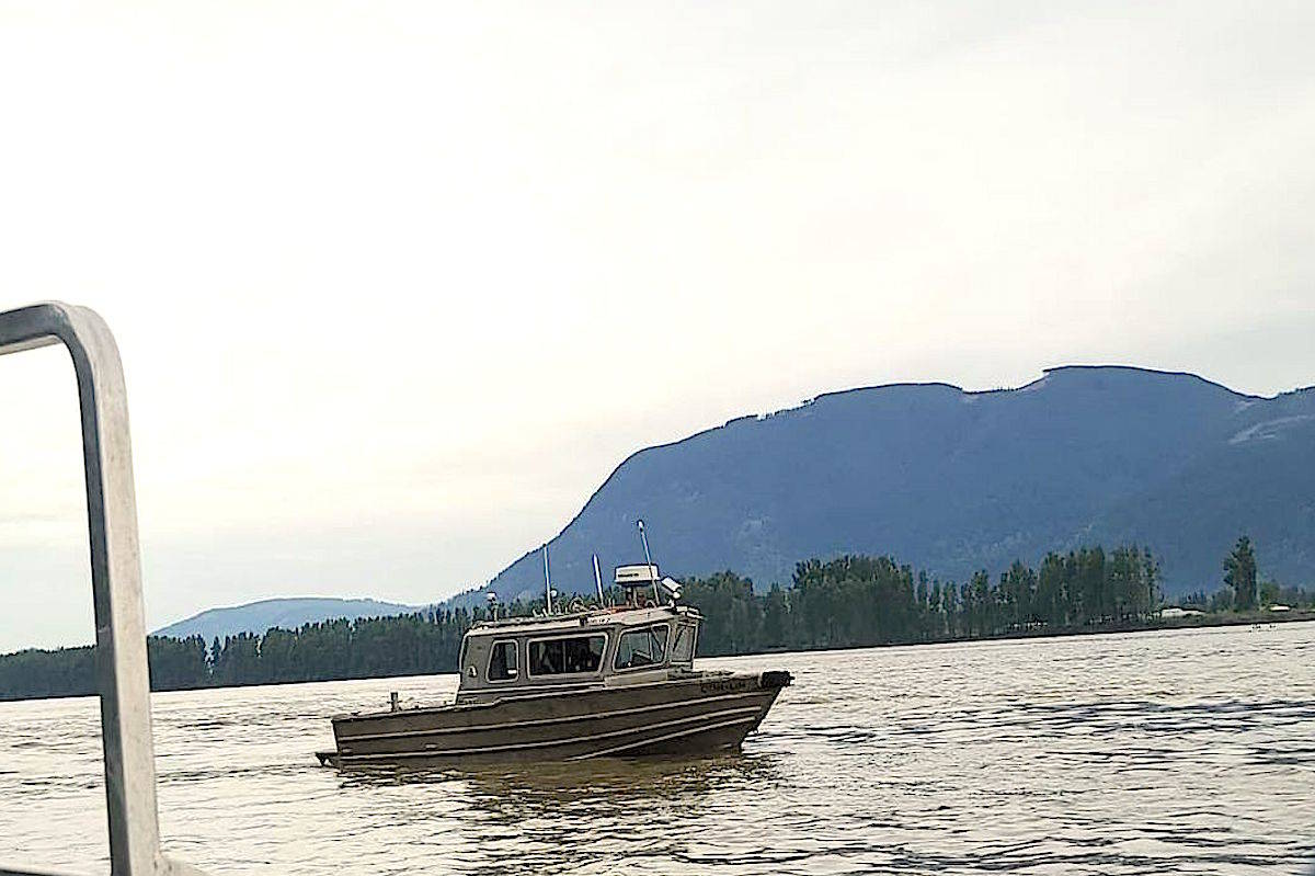 Boats in the Fraser River launched from Barrowtown and Ft. Langley on May 12 to search for the missing fisherman. (Steve Simpson)