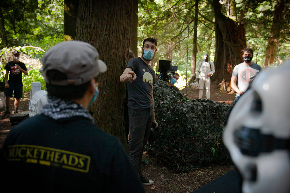 Bucketheads –A Star Wars Story is being filmed near the 19000-block of 16 Avenue in South Surrey. (Mychaylo Prystupa photos)