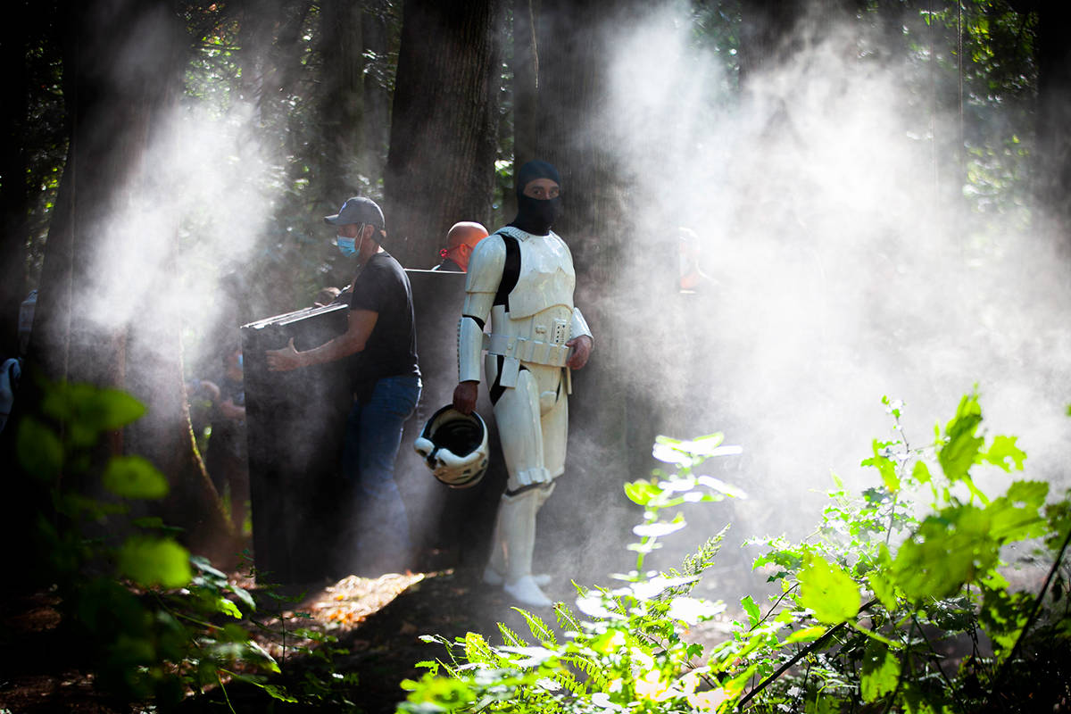 Bucketheads – A Star Wars Story is being filmed near the 19000-block of 16 Avenue in South Surrey. (Mychaylo Prystupa photos)