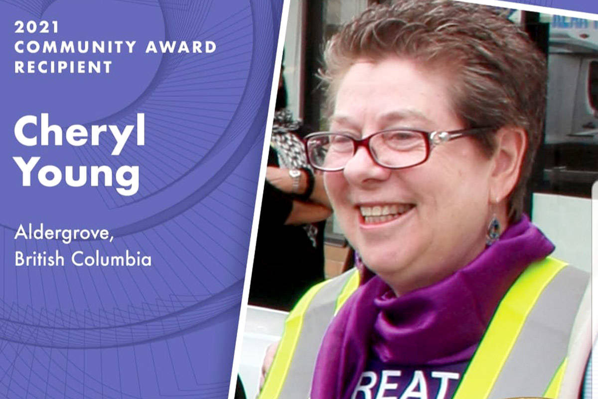 Cheryl Young was a community award recipient for her work in Aldergrove to raise funds and awareness for Fibromyalgia. (Special to The Star)