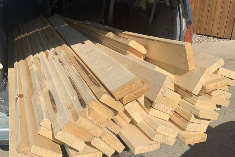 Lumber is shown in the back of a van in this recent image provided by the Saskatoon Police Service. The skyrocketing prices for lumber is fuelling a trend that has authorities across the country warning builders to keep their guard up. THE CANADIAN PRESS/HO-Saskatoon Police Service-Const. Derek Chesney *MANDATORY CREDIT*