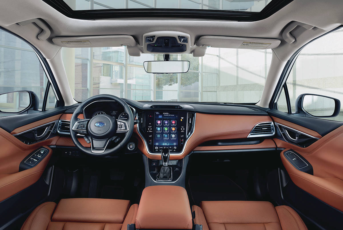 The upper trims look downright luxurious, although budget-minded buyers can park the base Legacy in their driveways for as little as $28,950 including destination charges and fees. PHOTO: SUBARU