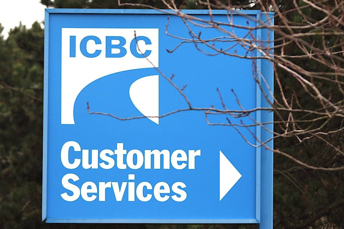 Signage for ICBC, the Insurance Corporation of British Columbia, is shown in Victoria, B.C., on February 6, 2018. THE CANADIAN PRESS/Chad Hipolito