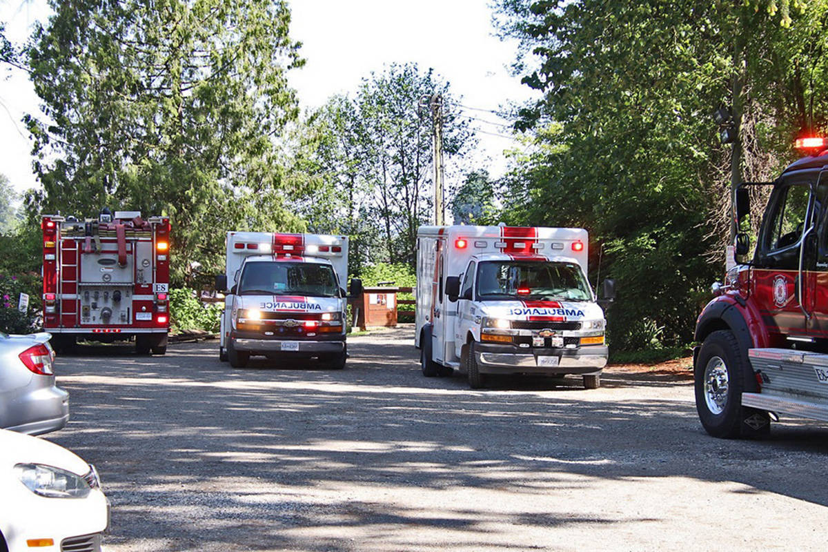 An elderly man drowned Thursday morning after suffering a medical emergency and falling into the water at Grant's Landing in North Langley. (Shane MacKichan/Special to the Langley Advance Times)