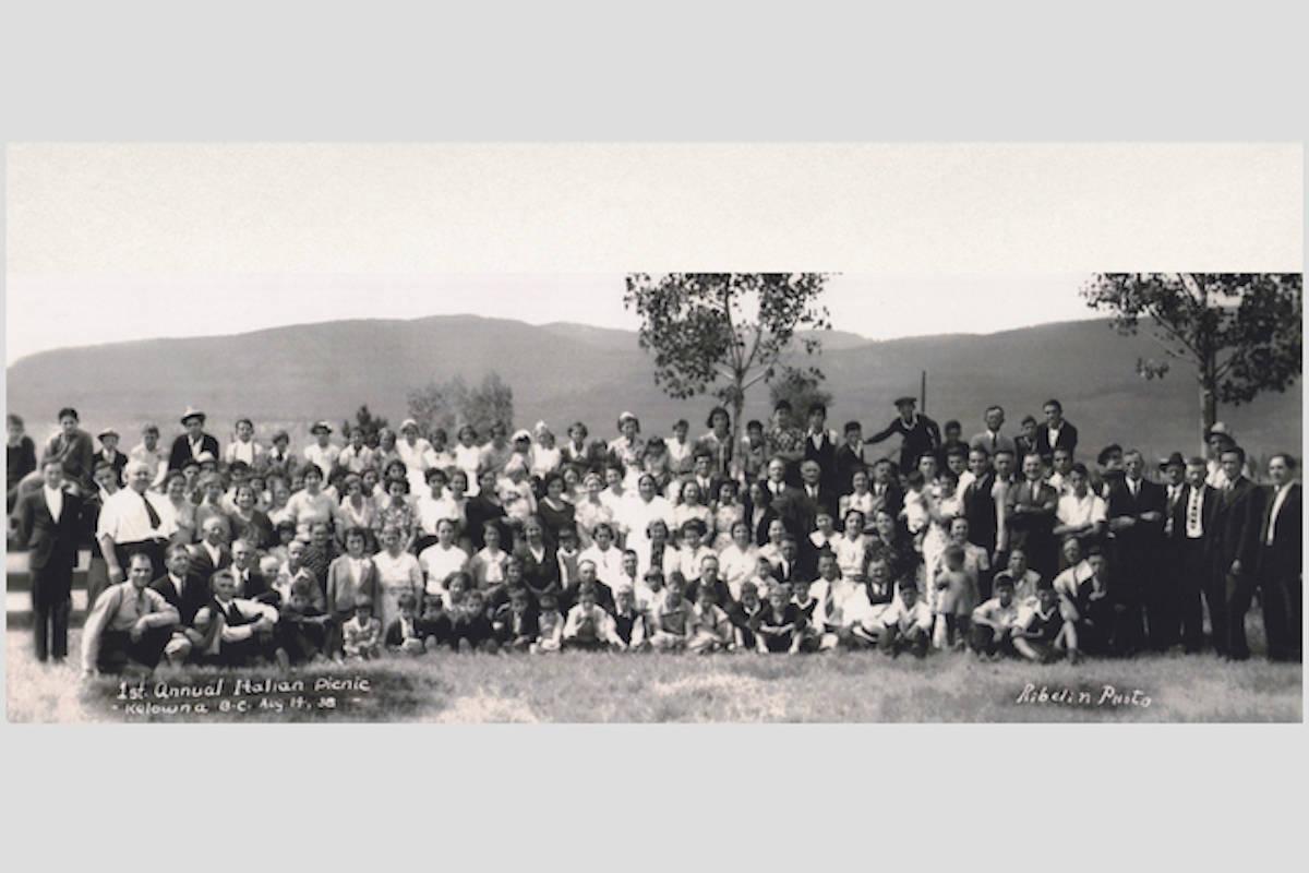 First annual Kelowna Italian club picnic on August 14, 1938. (Kelowna Canadian-Italian Club/Contributed)