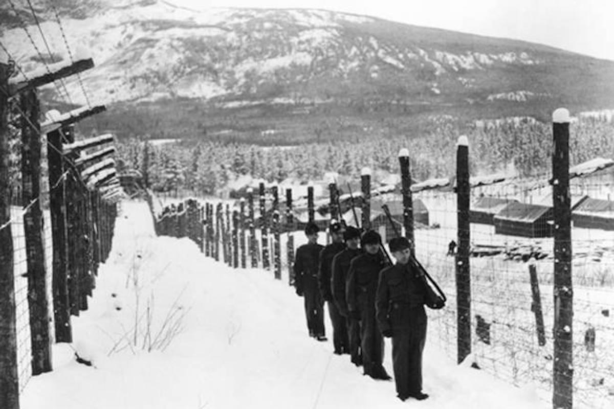 Guards at the Kananaskis prisoner of war camp in Alberta. (Kelowna Canadian-Italian Club/Contributed)