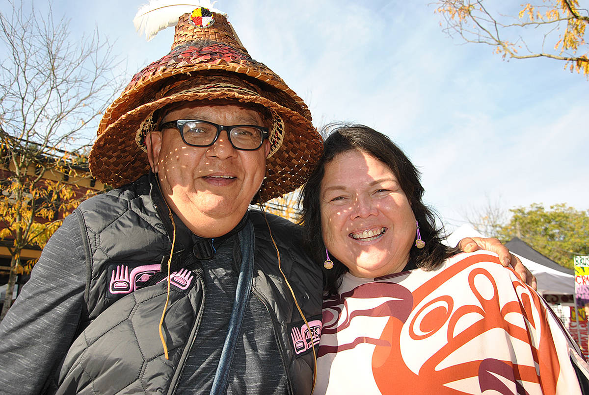 Kevin Kelly, and his wife and hereditary chief Marilyn Gabriel. (Langley Advance Times files)