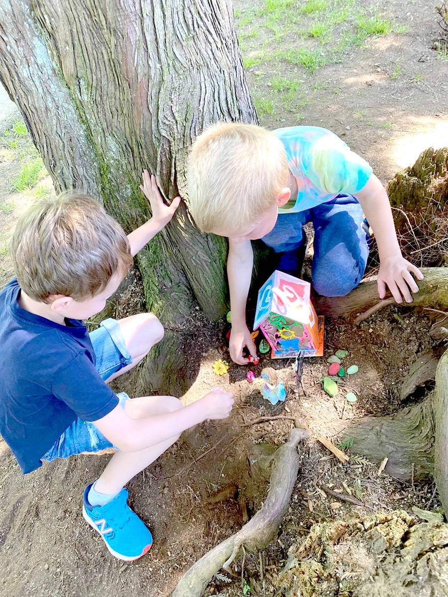 Shortreed students rebuilt the school's fairy garden by painting and decorating small homes. (Special to The Star)