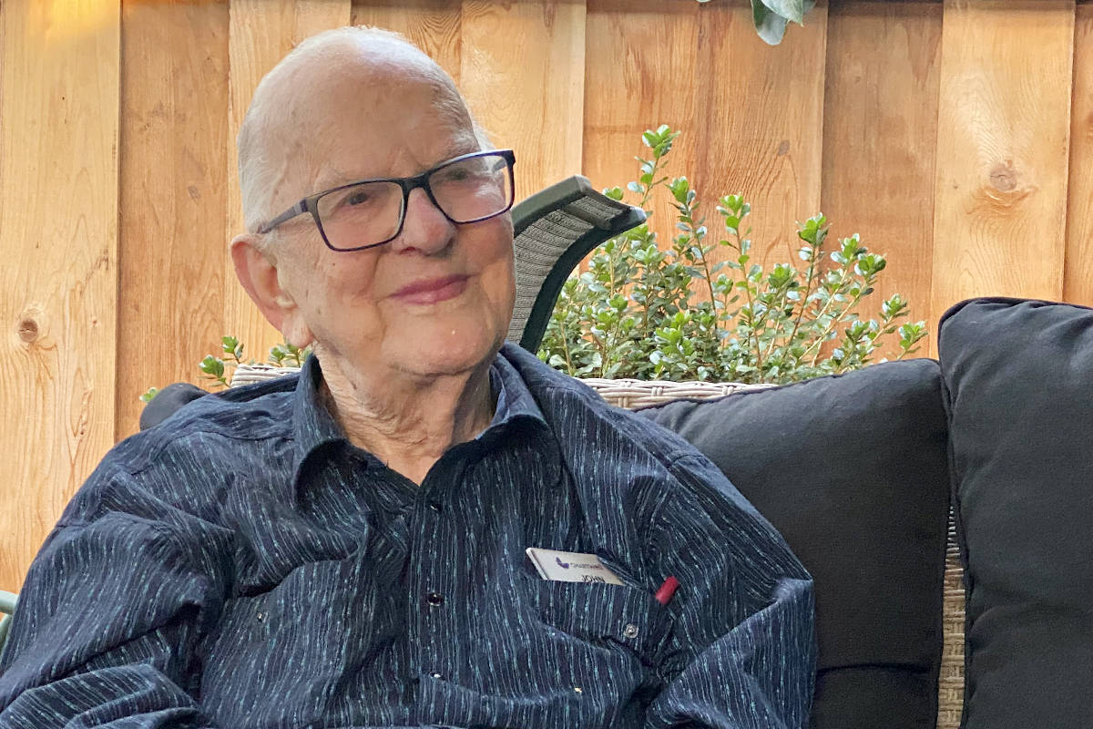 Langley senior John Kromhoff doesn't think he will get many cards on his 100th birthday. His family intends to prove him wrong. (Special to Langley Advance Times)