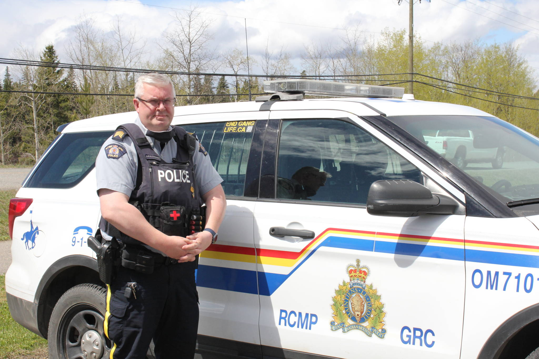 Staff-Sgt. Svend Nielsen, with the 100 Mile House RCMP. (Melissa Smalley - 100 Mile Free Press)