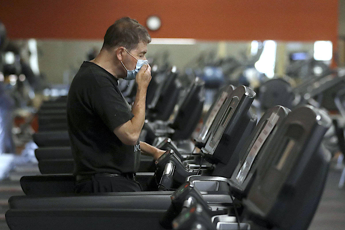 Announced Tuesday, May 18 by Public Safety Minister Mike Farnworth, the province added gyms, dance and fitness studios to its list of places where face coverings are mandatory (AP/Steven Senne)
