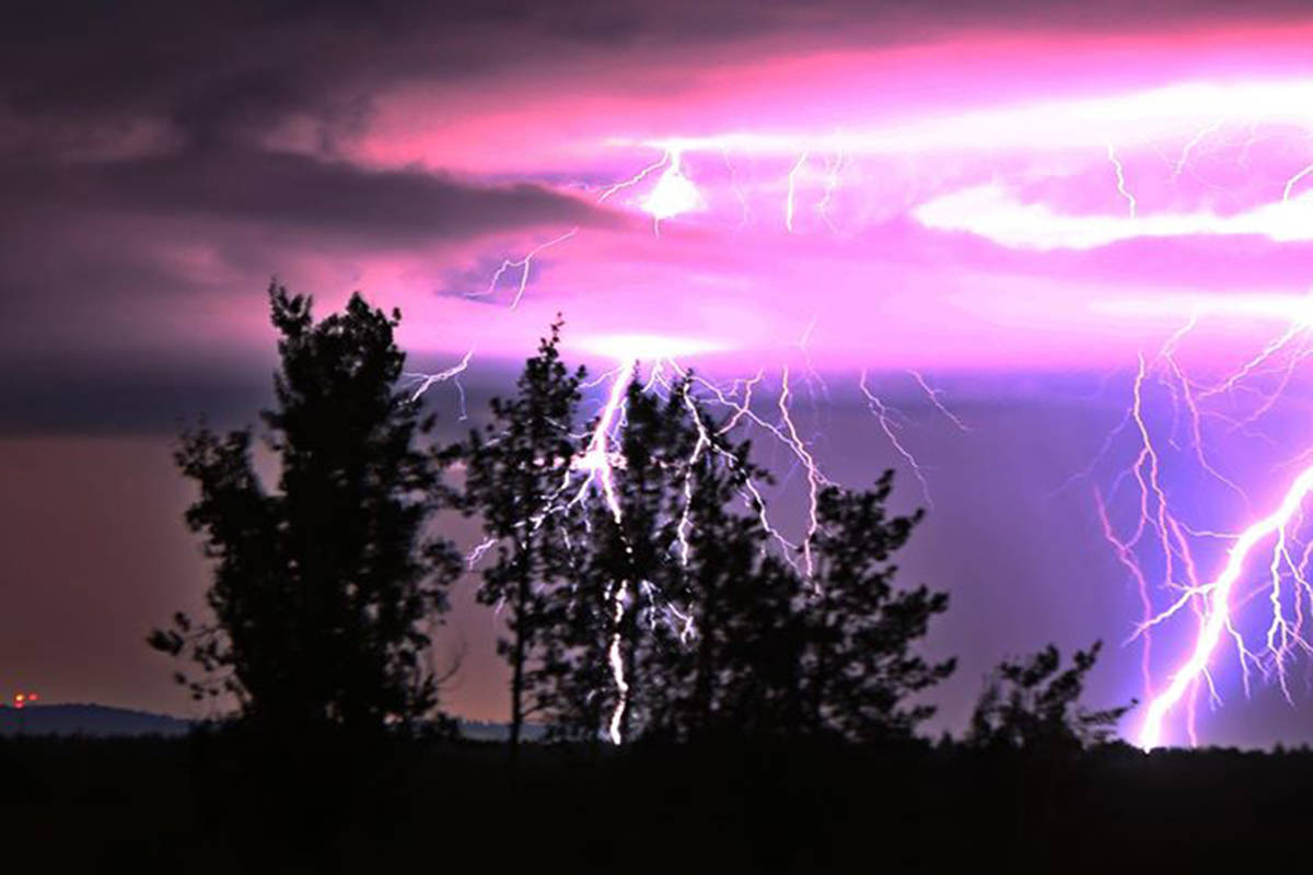 A thunderstorm pictured in Fraser Valley in 2021. (Black Press Media/Jaimie Grafstrom)