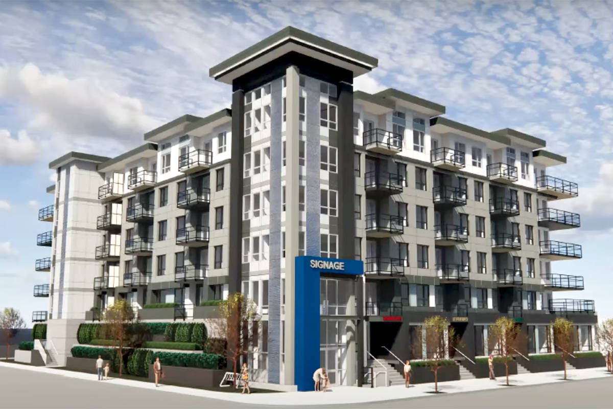 An artist's rendering of a planned rental building with live/work units approved by Langley City council. (Special to Langley Advance Times)