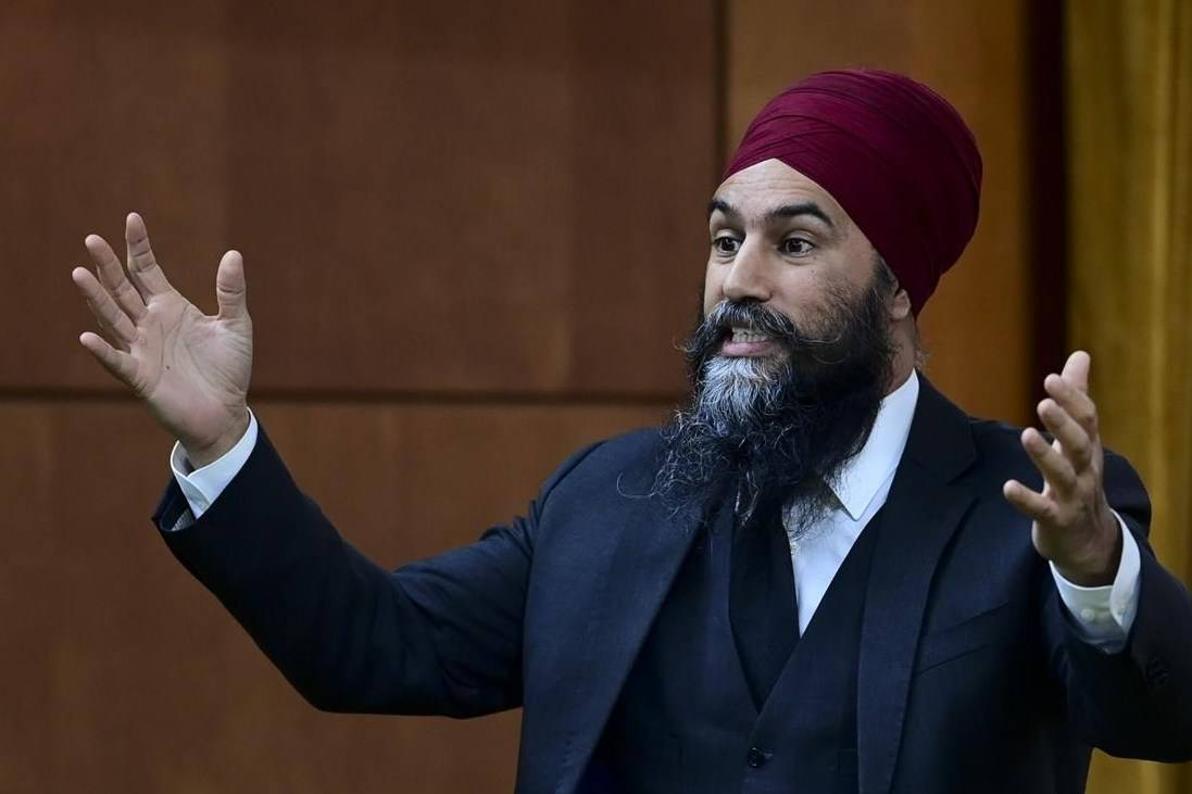 NDP Leader Jagmeet Singh rises during question period in the House of Commons on Parliament Hill in Ottawa on Thursday, April 29, 2021. Parliament's budget watchdog says the NDP plan to cut student debt would cost about $4 billion.THE CANADIAN PRESS/Sean Kilpatrick