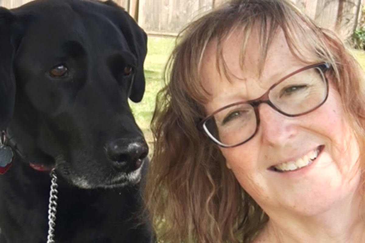 Jacquelyne Clark and her dog Brandy. (Jacquelyne Clark/Special to the Langley Advance Times)