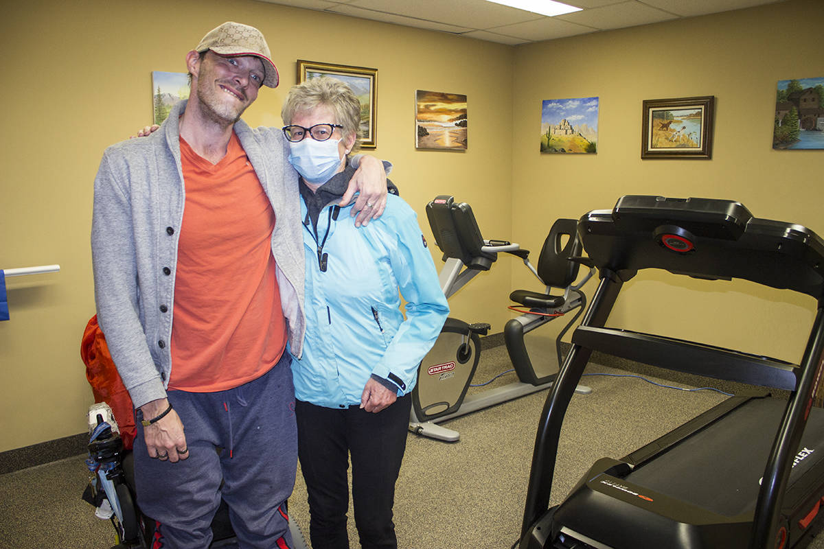 Jimmy Blais has a new lease on life after meeting Claire Jacklin, the community manager at Golden Life's Garden View Village in Kimberley, who encouraged him and helped him start a workout routine, helping him conquer his MS diagnosis. Paul Rodgers photo.