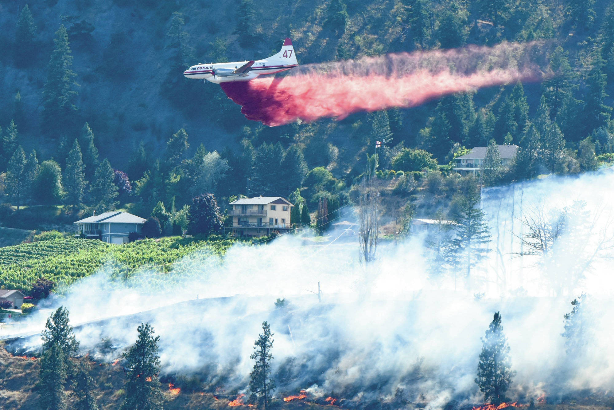 BC Wildfire Service air tankers and pilots are now stationed at the Penticton Airport, ready at a moment's notice to fight wildfires. (Western News file photo)